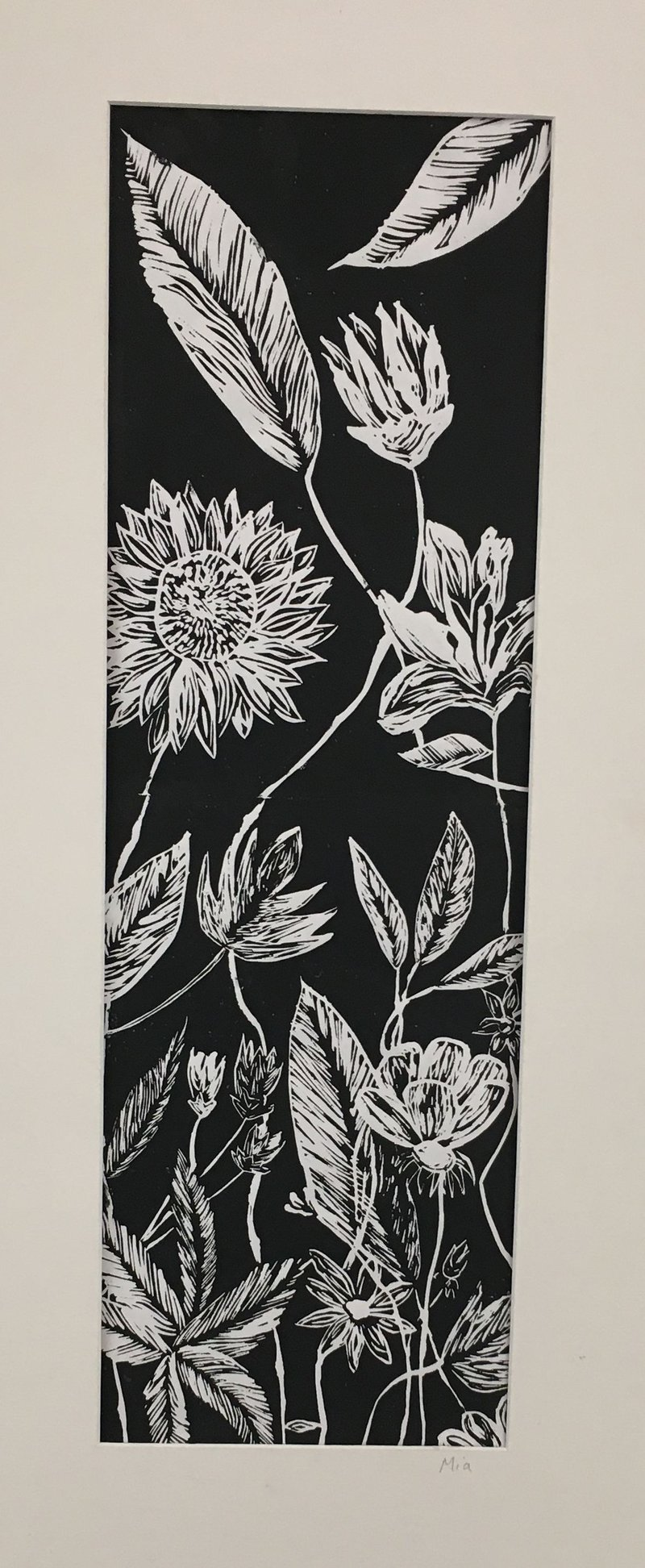 Year 9 2018 - Linoprints - The Garden of Delights