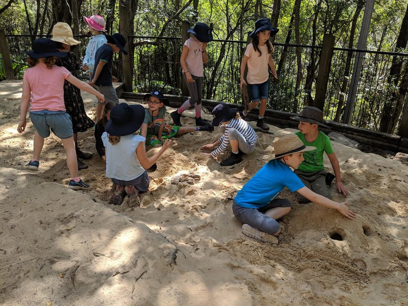 The sandpit is such an engaging, changing landscape to play in