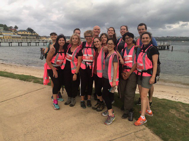 The teachers + 2 team walked the 15km by day together