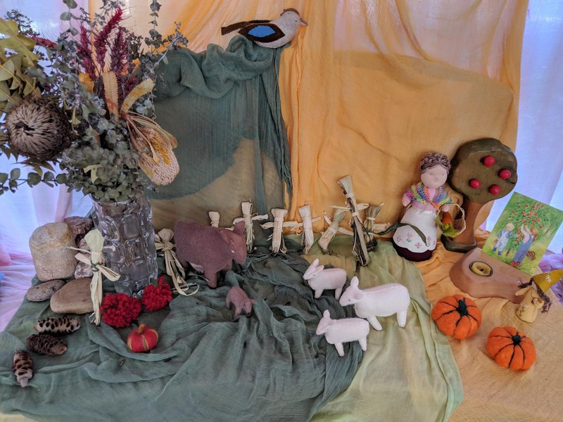 The Autumn nature table in Little Kindy is lovely....