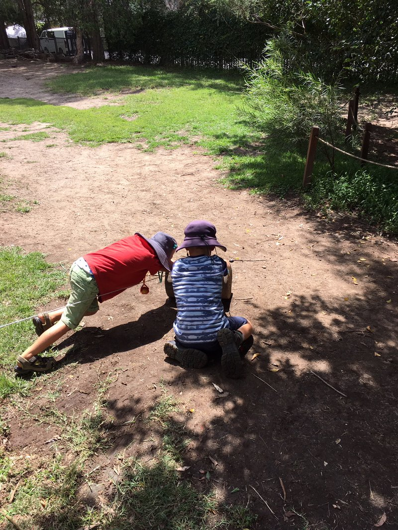 The children created a weighted log to tow it out... and did it!