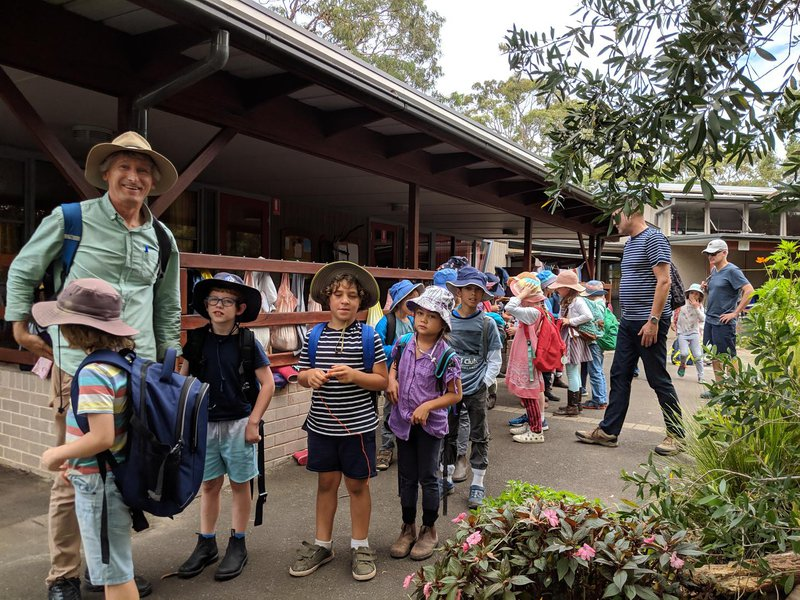 Class 2 are ready to leave for their bush walk