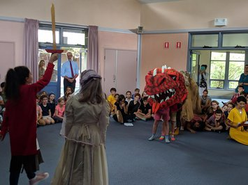 Brendan's work also includes props for the school plays and musicals, including the recent Michaelmas dragon!