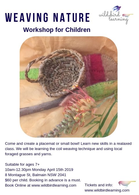 Wildbird Learning - Weaving Nature for children