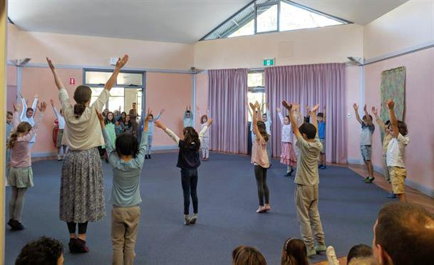 Class 2 showed parents a beautiful eurythmy and dance display in 2018