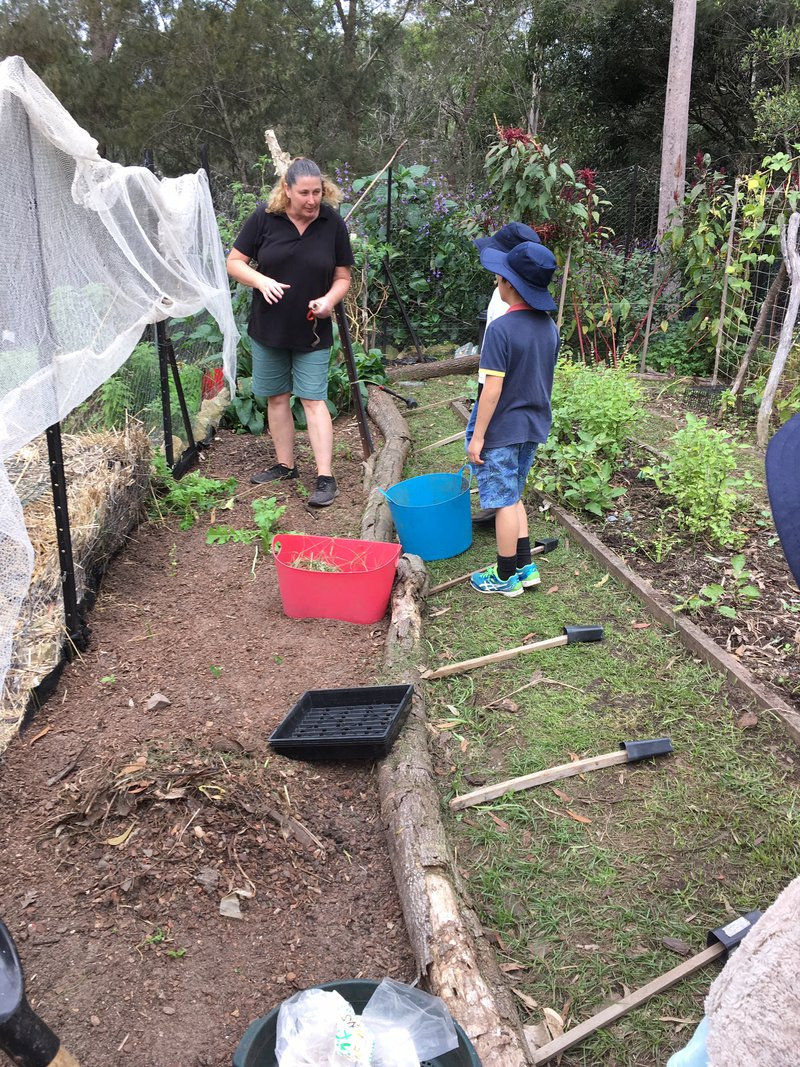 Class 3 is straight into the garden to prepare the beds