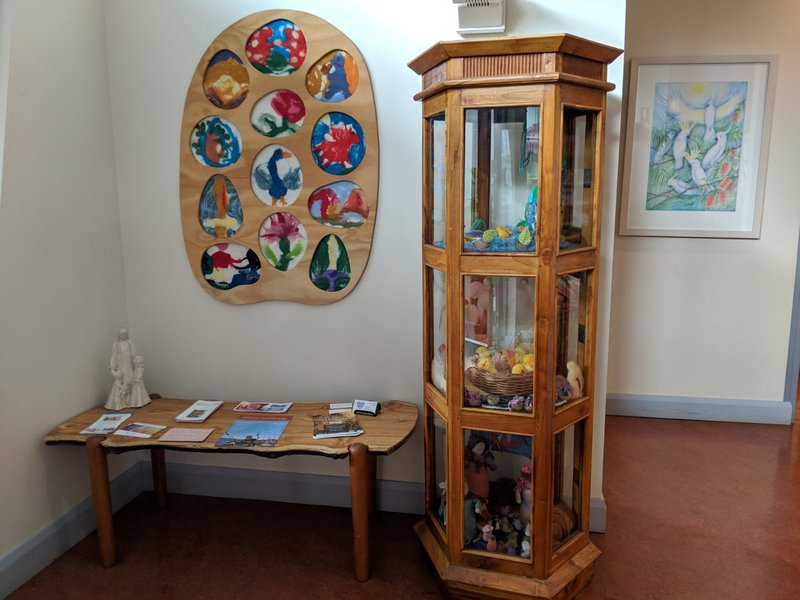 In the Castlecrag office is a gorgeous wooden display cabinet