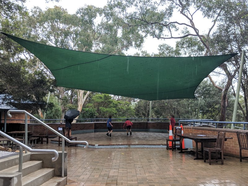 The great new shade sail at Class 5