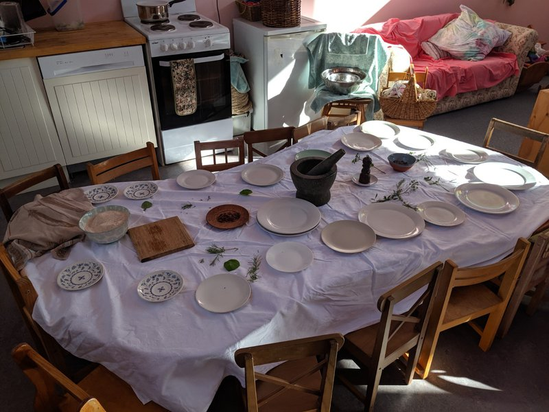Baking table ready... all we need is children!