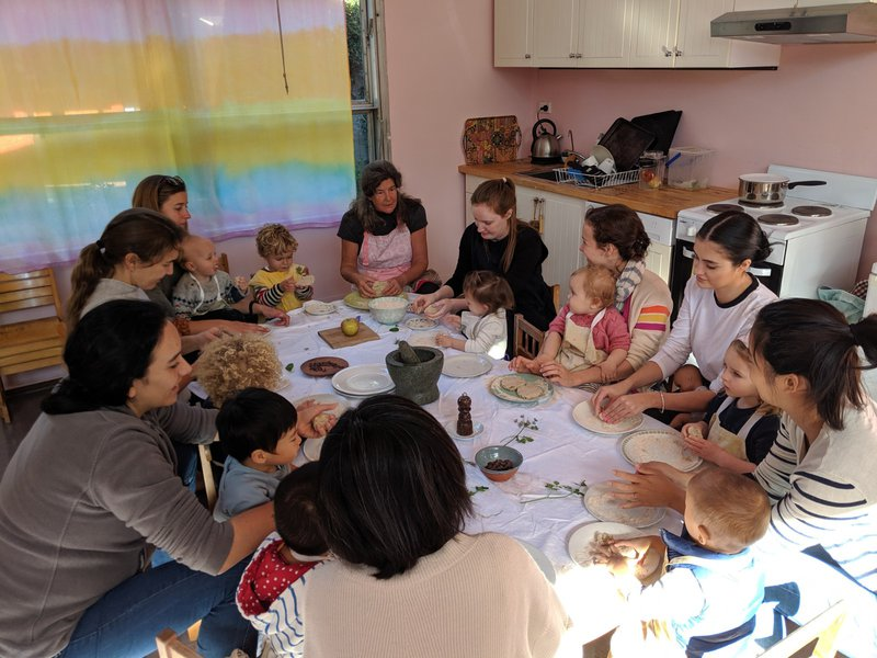 Sourdough bread-baking during playgroup