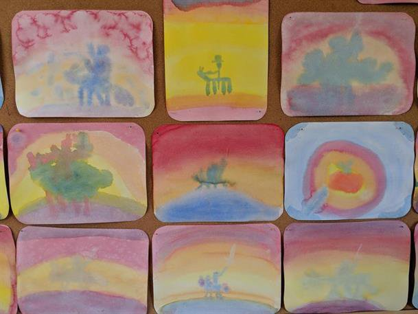 Class Two Celtic Wonders paintings