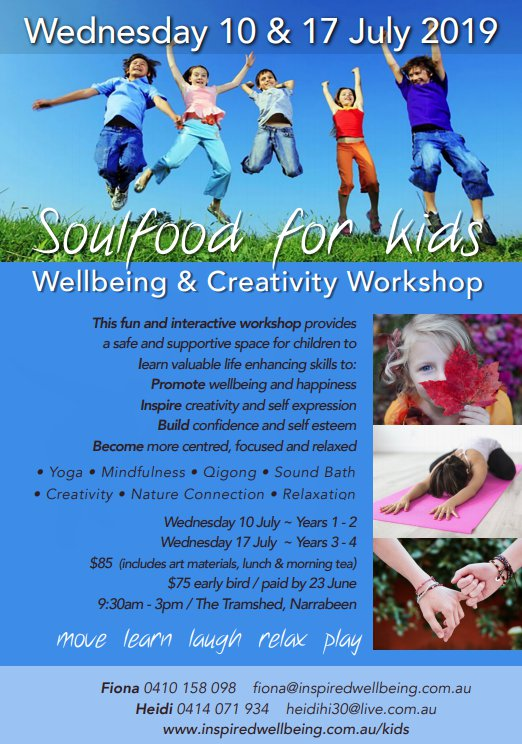 Soulfood Workshop days - click above to see the complete flyer