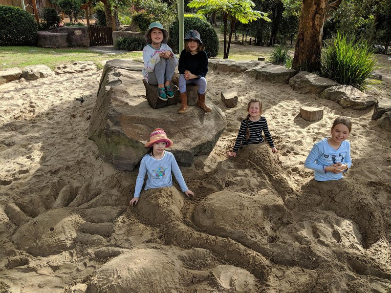 Mermaids in the sandpit