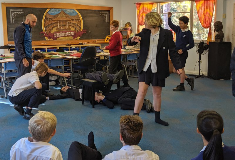 Year 8 explore Shakespeare with Brendan Strobl