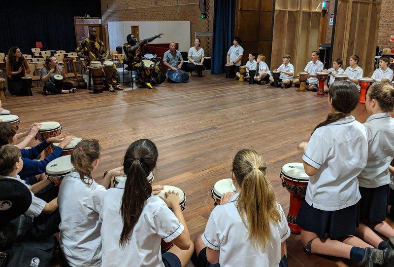Year 7 Surprise African Drumming Workshop