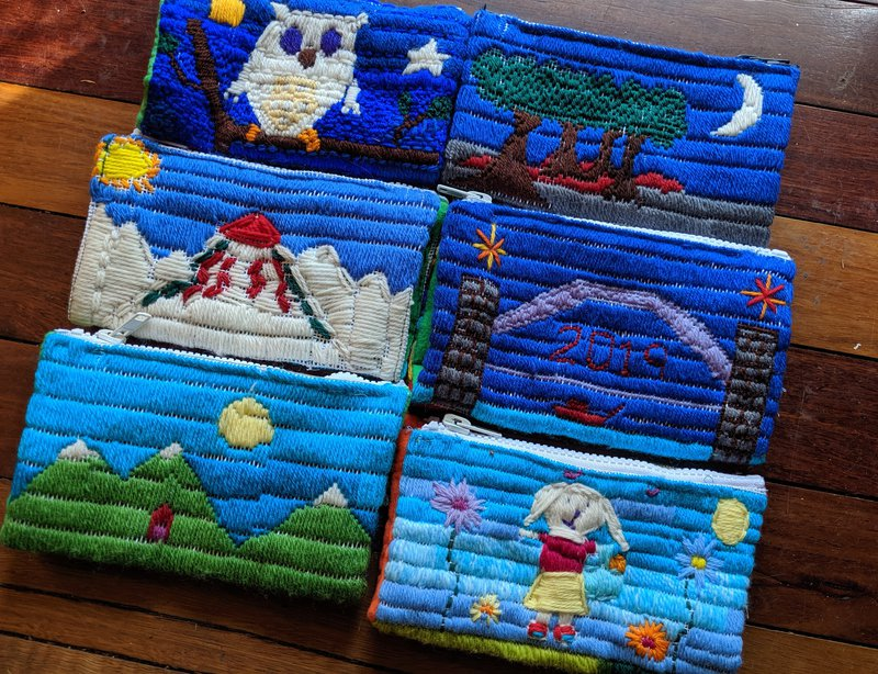 Class Two 'Long Stitch' pencil cases