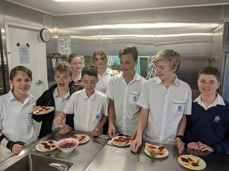 Year 7 Food Technology learning about seasonal produce - strawberries