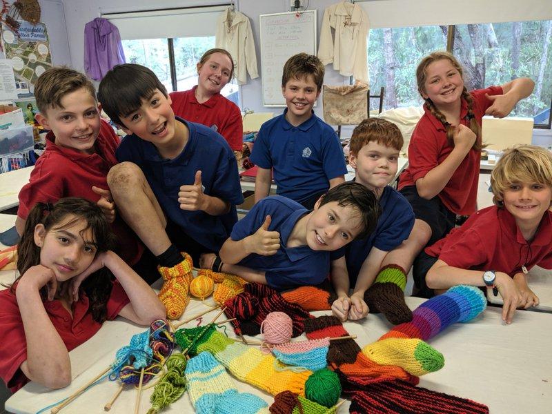Class Five knitting socks