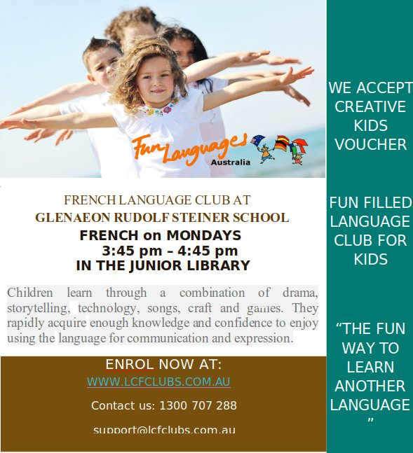 French Classes after school at Glenaeon