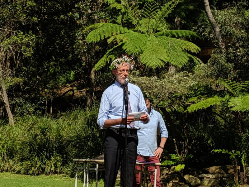 Andrew Hill gave a warm welcome and acknowledgement of the Cammeraygal land and people.