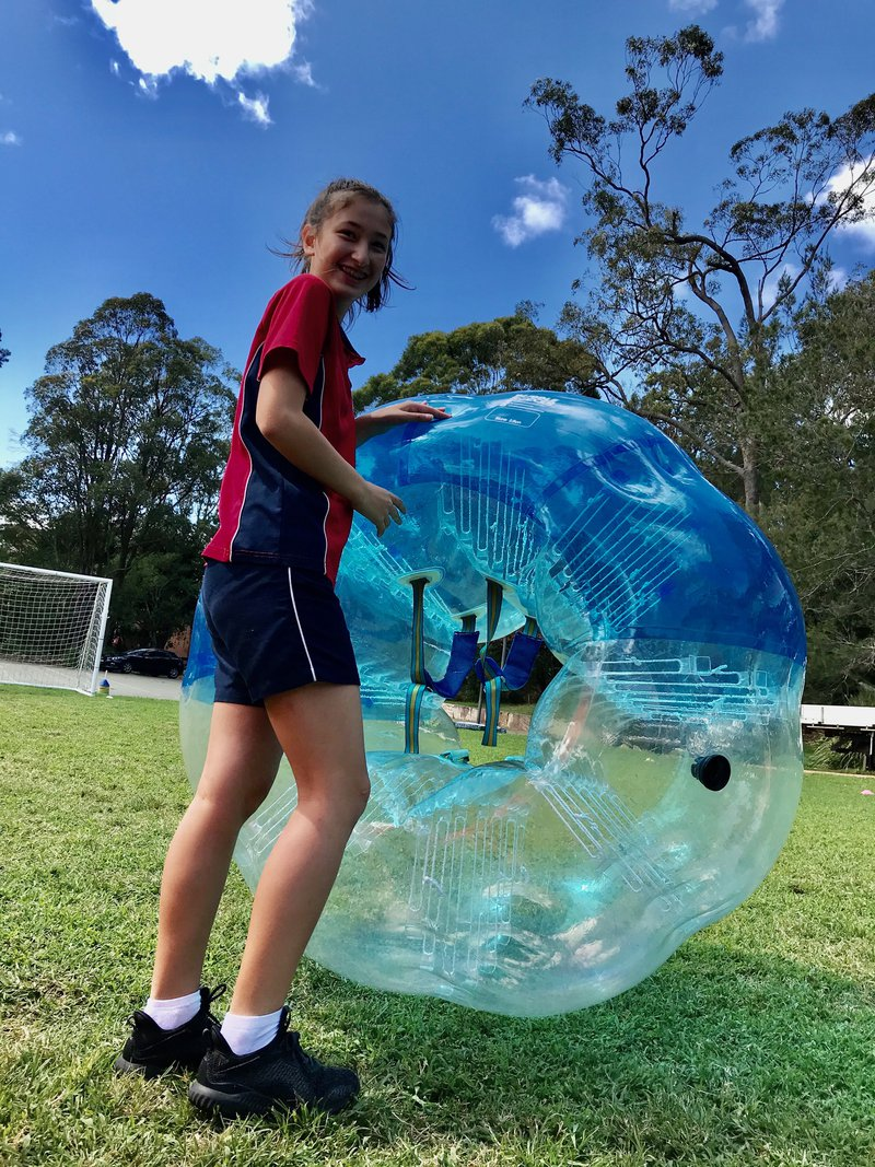 Year 9 PE bubbles with fun