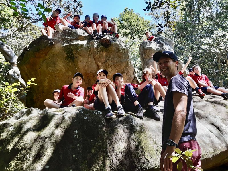 Teaching Year 7 PDH outside: Diversity and Inclusion by the waterfall