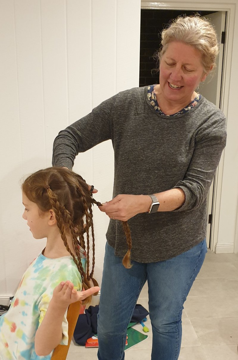 Class 3's Evie lets her hair hang down, then chops it off