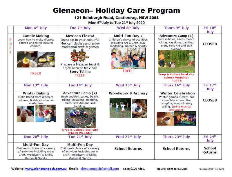 Free vacation care program for the holidays - book now!