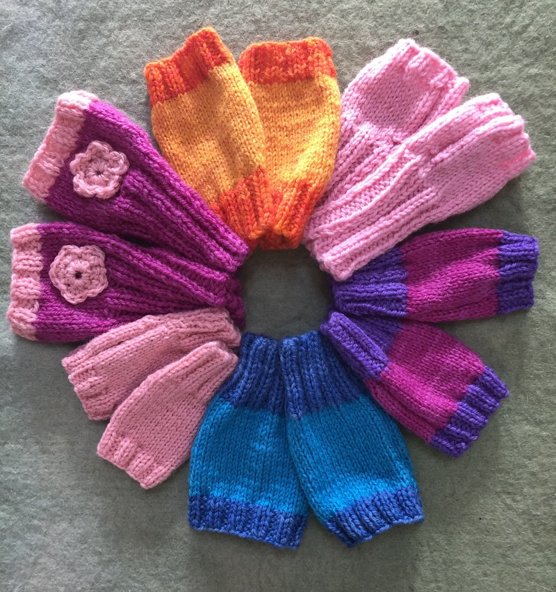 Crafty parents knit winter warmers for students