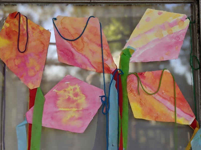 The August winds are blowing... Kindy kites