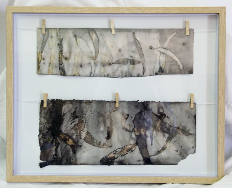 Year 8 – hand-dyed paper and silk series