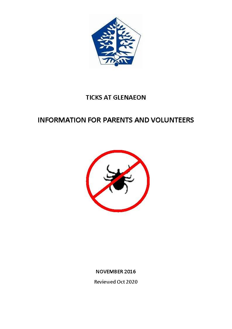 Important Tick Information - please read