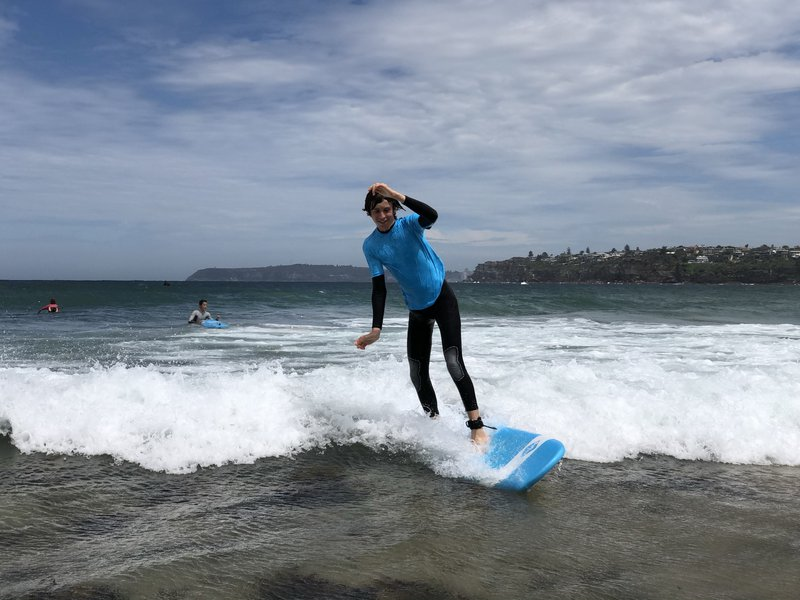 Year 10s catch waves at Longy