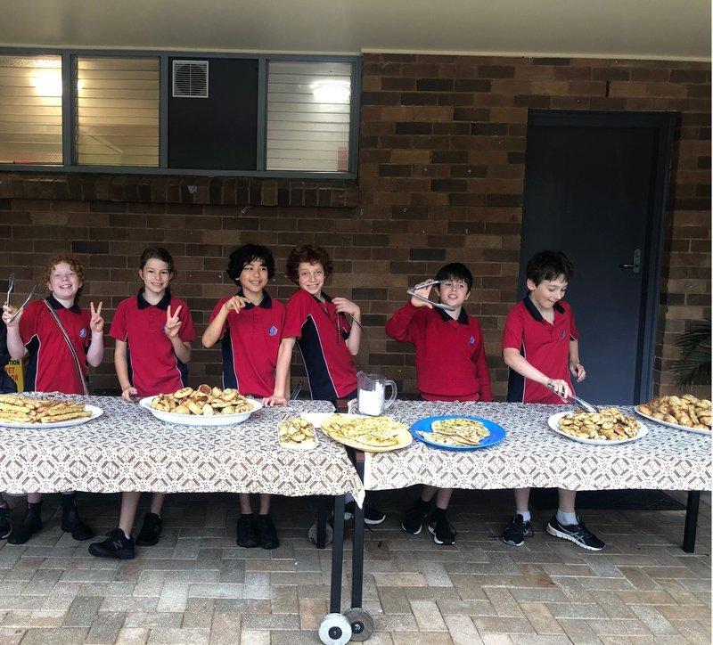 Class 5 makes 'dough' despite the rain