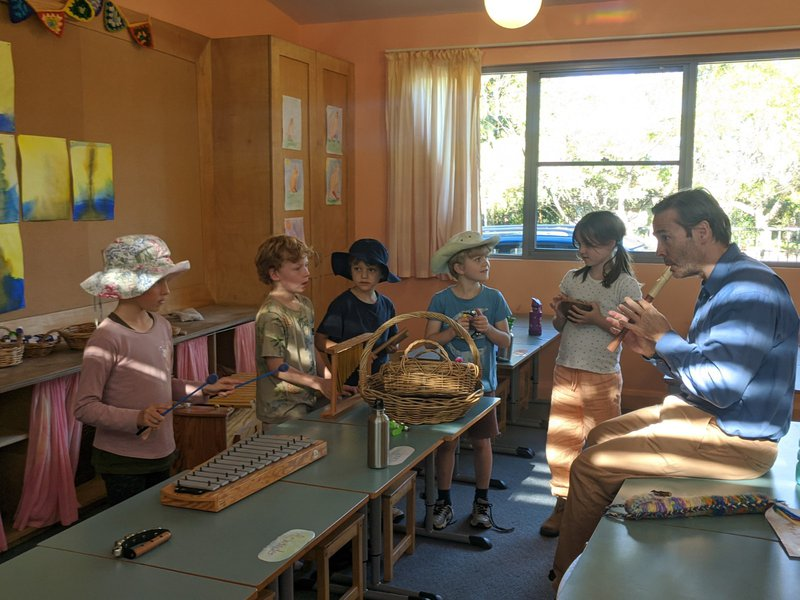 Class 2 explore the sounds of music