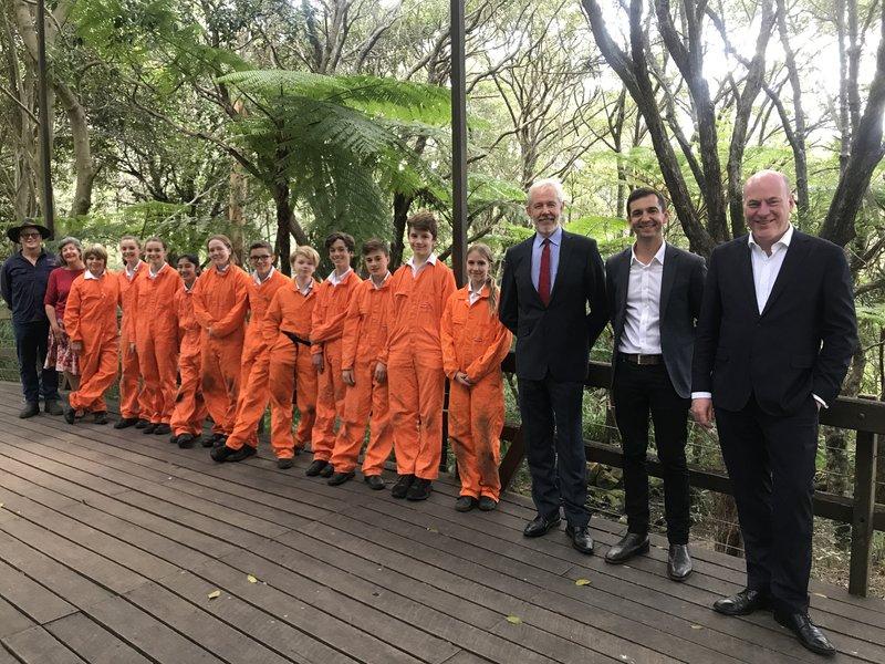 Orange is the new green: Glenaeon's bush regen work on show