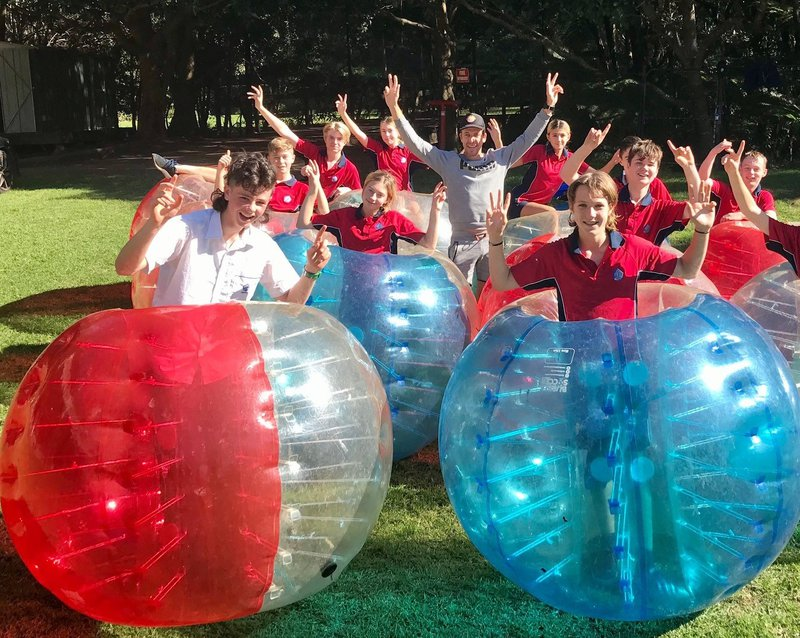 Year 9 bounce into Bubble Soccer