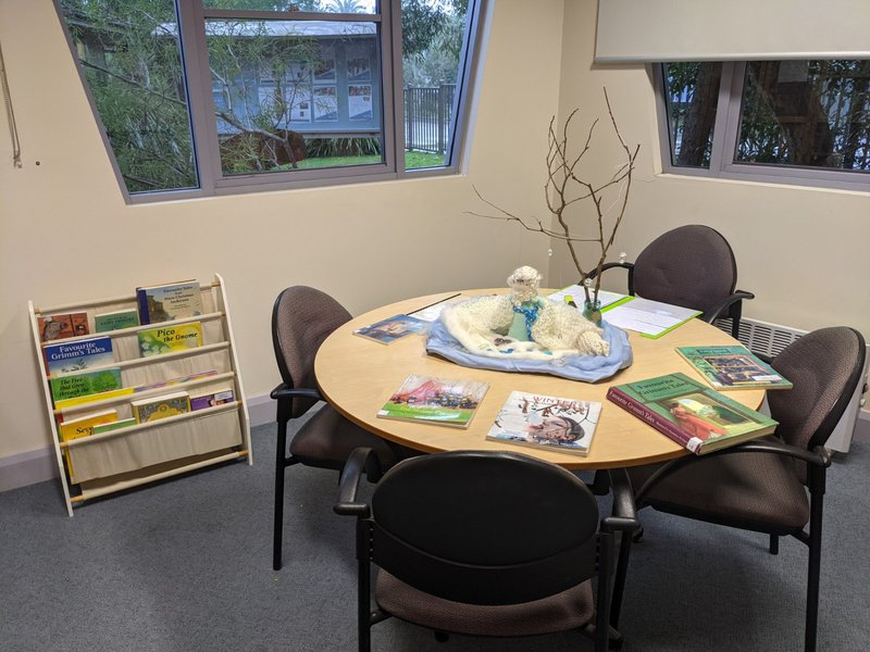 Parent Library at Castlecrag bursting with books