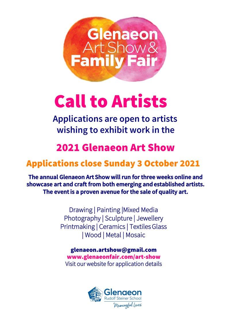 2021 Glenaeon Art Show -  Call to Artists, applications close SUN 03 OCT