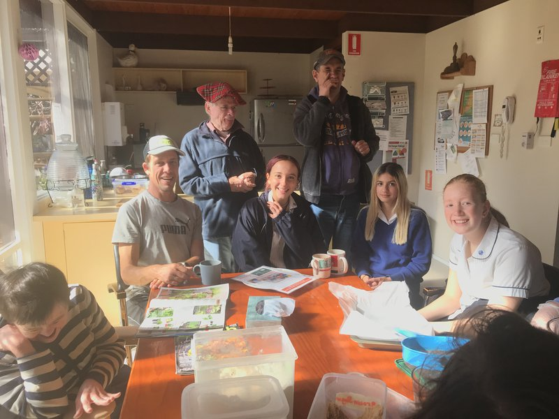 Students explore The Cove on a visit to Warrah
