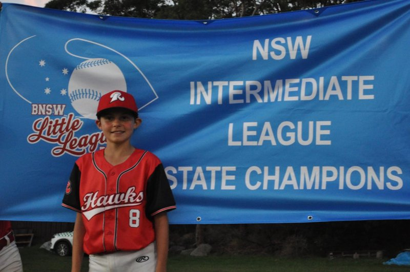 Year 7's Archie Carter in the Australian Baseball Championships