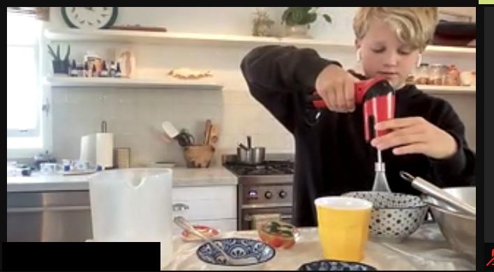 Kids in the Kitchen making Kaiserschmarrn