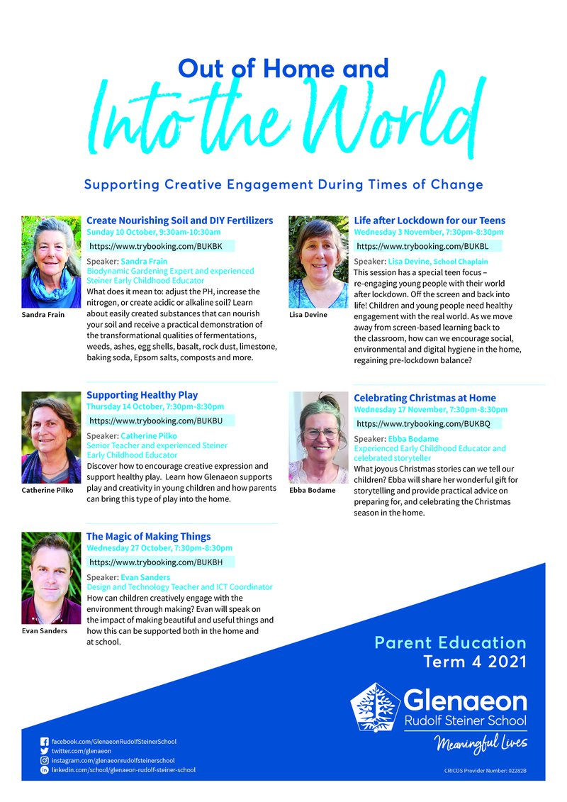 Term 4 Parent Education: Out of Home and Into the World