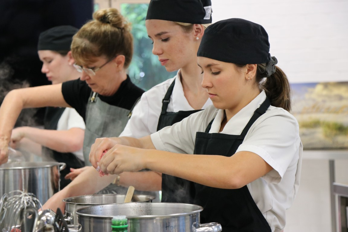 The year 12 hospitality at Good Shepherd are cooking up to help Noosa's needy.