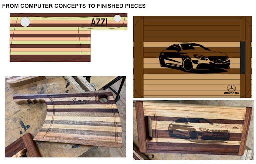 Concepts to finished pieces