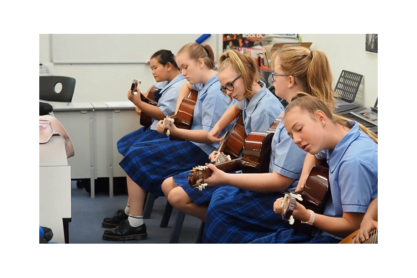 Year 8 Learning Guitar in Music