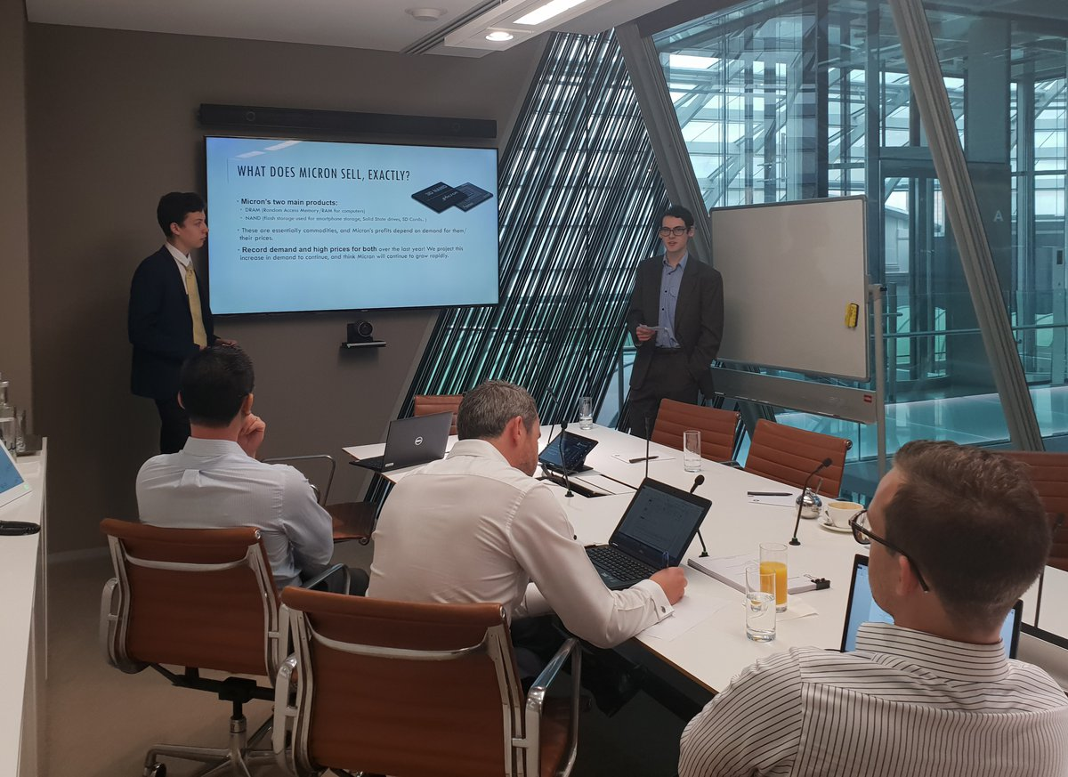 Stock pitch competition winners enjoy a day at Macquarie Bank