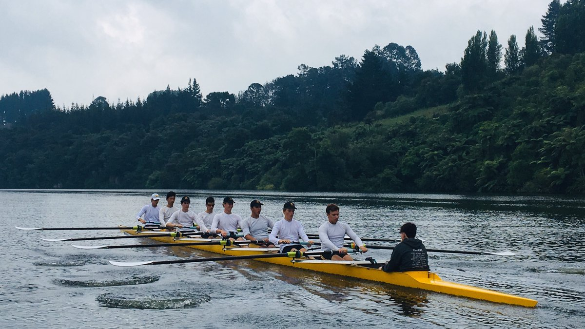 Rowing on Lake Karapiro