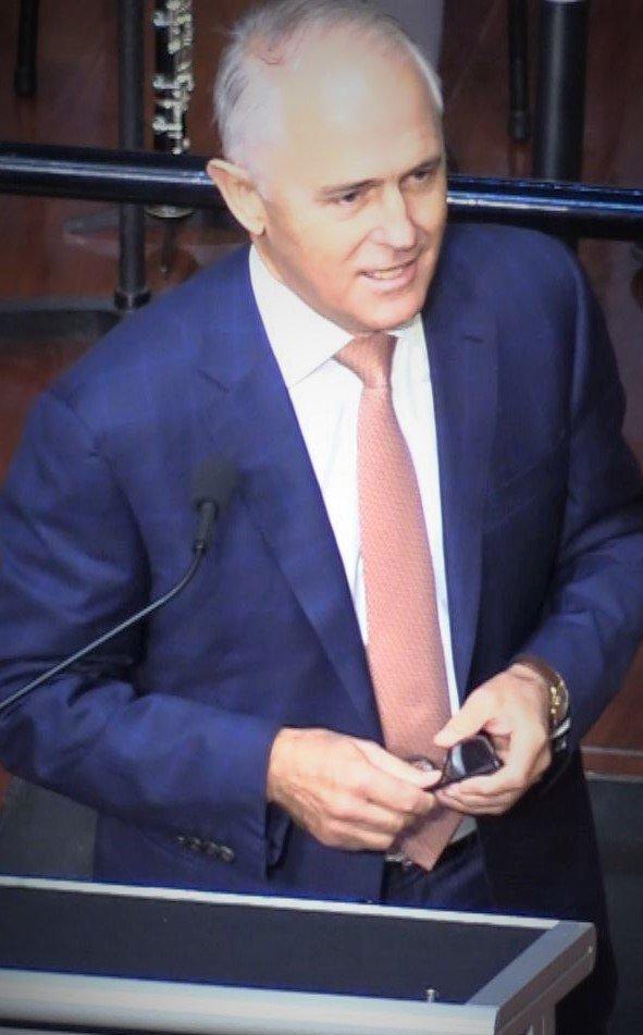 Former Prime Minister Malcolm Turnbull Speaks at Assembly
