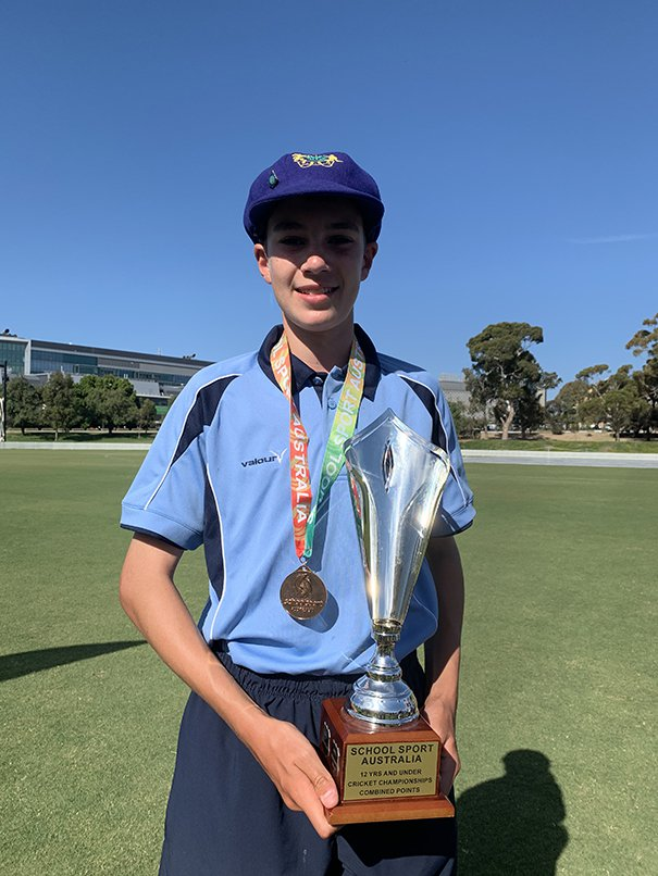 Jonty Snyman represents the NSWPSSA Cricket team